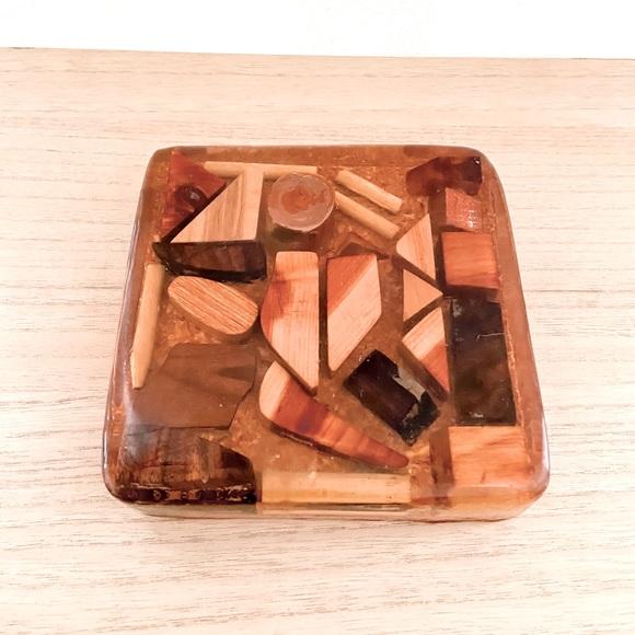 Vintage Lucite Assorted Wood